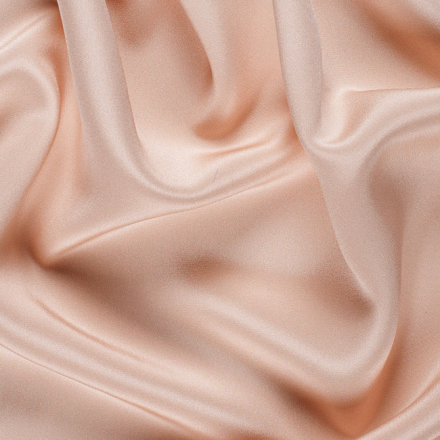 Cream Satin Back Crepe Fabric